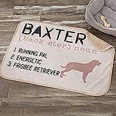 Personalized Sherpa Dog Blanket - Definition of My Dog - 18407