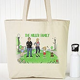 Personalized Canvas Tote Bag - Family Characters - 18414