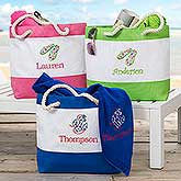 Embroidered Beach Bag - Name or Monogram - 18421
