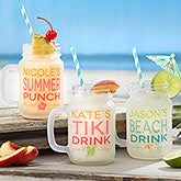 Personalized Mason Jars - Frosted Glass - 18426