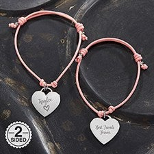 Personalized Friendship Bracelet with Heart Charm - 18430