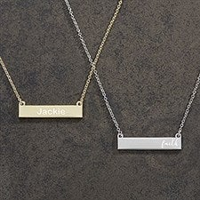Custom Nameplate Necklaces For Her 18432
