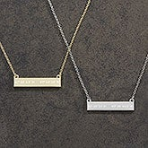 Custom Nameplate Coordinate Necklace - 18433