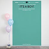 Baby Shower Personalized Photo Backdrop - 18451