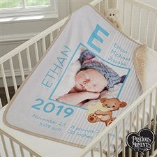Personalized Precious Moments Baby Blanket for Boys - 18457