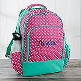 Embroidered Backpack - Pink Polka Dot  - 18459