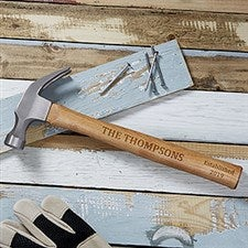 Building Memories Personalized Wood Hammer - 18463