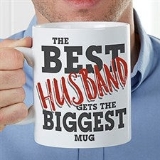 Custom Oversized Coffee Mugs - Best Husband - 18470