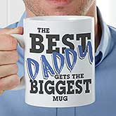 Custom Oversized Coffee Mugs - World's Best Dad - 18483