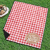 Personalized Picnic Blanket - Picnic Plaid - 18487