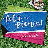 Personalized Picnic Blanket - Summer Colors - 18488