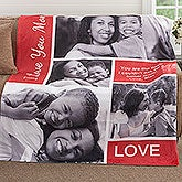 Custom Photo Collage Blanket - Family Love - 18493