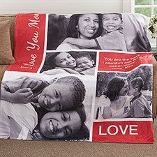 Custom Photo Collage Blanket - Family Love - 18493