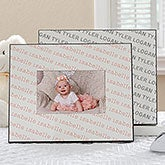 personalized baby frame repeating baby name 18503