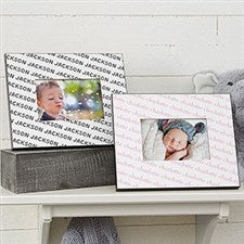 Personalized Baby Frame - Repeating Baby Name - 18503