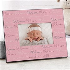 Personalized Modern Baby Girl Picture Frames - 18505