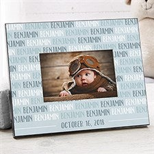 Personalized Modern Baby Boy Picture Frames - 18506