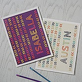 Personalized School Folders - Stencil Name - 18510