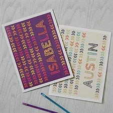 Personalized School Folders - Stencil Name - 18510