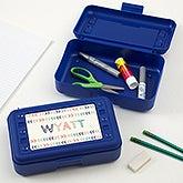 Personalized Plastic Pencil Box - Stencil Name - 18513