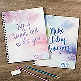 Personalized Notebooks - Watercolor Design - 18515