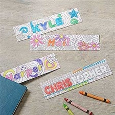 Color Your Own Custom Bookmarks - Set of 4 - 18525