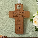 Pet Memorial Personalized Wood Cross - 18529