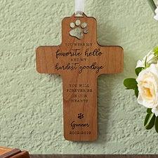 Pet Memorial Personalized Wood Cross - 18529