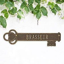 Vintage Key Personalized Family Plaque - 18530D
