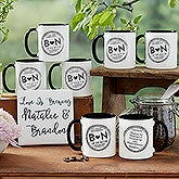 Wedding Favor Custom Coffee Mugs - 18547