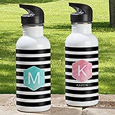 Personalized Water Bottle - Modern Stripe - 18554