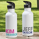 Bold Name Personalized Water Bottle - 18555
