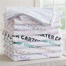 Personalized Fleece Baby Blankets - Playful Name - 18557