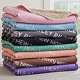 Personalized Sherpa Baby Blanket - Playful Name - 18558