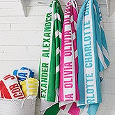 Personalized Beach Towels - Classic Stripe - 18571