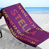 Personalized Beach Towels - Stencil Name - 18572