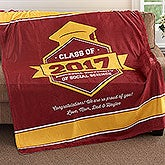 Personalized Fleece Blanket - Graduation Gift - 18577