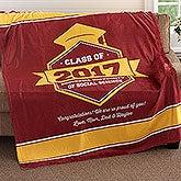 Personalized Fleece Blanket - Graduation Gift - 18577