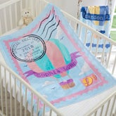 Personalized Hot Air Balloon Baby Blanket - 18585