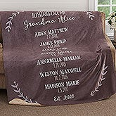 Personalized Premium Sherpa Blankets - Grandchildren - 18590