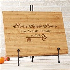 Personalized Bamboo Cutting Board - Key To Our Home - 18593