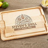 Personalized BBQ Cutting Board - The Grill - 18597