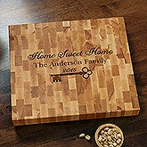 Butcher Block Cutting Board - Key to Our Home - 18603