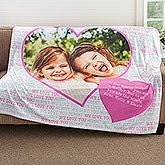 Personalized Photo Fleece Blankets - Photo Heart - 18607