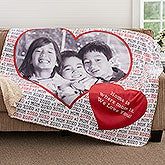 Personalized Photo Sherpa Blankets - Love You This Much - 18608