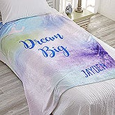 Personalized Fleece Blankets - Watercolor Design - 18615