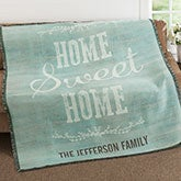 Personalized Throw - Home Sweet Home - 18623