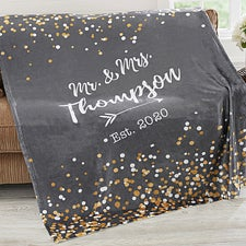 Personalized Wedding & Anniversary Blankets - Sparkling Love - 18625
