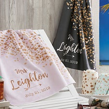 Personalized Beach Towels - Sparkling Love - 18627