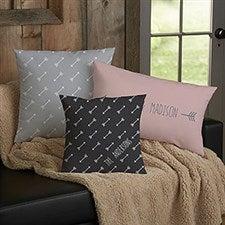 Personalized Throw Pillows - Arrows Design - 18645